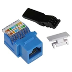 Cat.5e Tool Less Type Keystone Jack  Blue