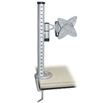 Universal LCD Table Mount Bracket Load: 33 lbs./ 15kg , LCD Size: 10-23 inch / Tilt: -30~+30 Swivel: 180 degrees Max mount height: 16 inch