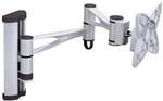 Universal LCD Wall Mount Bracket Load: 33 lbs./ 15kg , LCD Size: 10-23 inch / Tilt: -30~+30 Swivel: 180 degrees