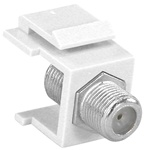 Plate Insert w/F Connector White
