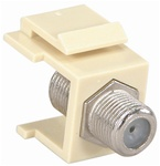 Plate Insert w/F Connector Ivory