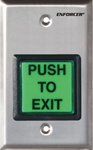 "2"" Square ""PUSH TO EXIT"" and ""PRESIONE PARA SALIR"" faceplates"