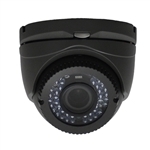 TVI 2M 1080P IR Dome 2.8-12mm Lens, Black