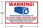 "12""x18"" Video & Audio Monitoring Sign"