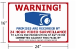 "16""x24"" Video & Audio Monitoring Sign"