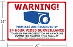 "24""x36"" Video & Audio Monitoring Sign"