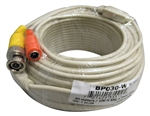 W-123-W 100Ft/30M Camera Video & Power Premade Cable, Off White