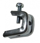 "Pressed Beam Clamp for 1/2"" Flanges, 1/4-20 Threaded Rod"
